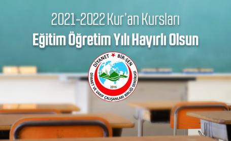 Kur'an Kursları 2021-2022 Eğitim Öğretim dönemi başladı.