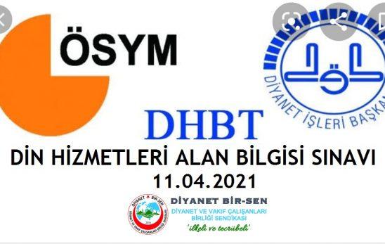 DİB- DHBT sınav yerleri belli oldu.
